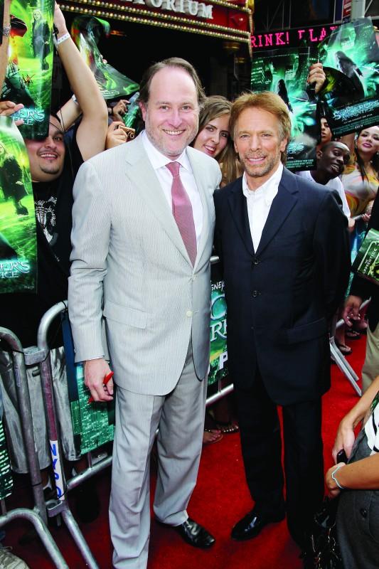 Il produttore Jerry Bruckheimer e il regista Jon Turteltaub alla premiere americana del film L'apprendista stregone
