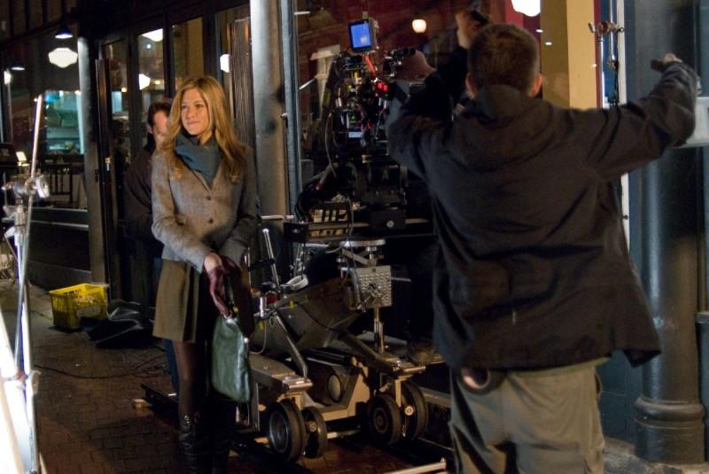 Jennifer Aniston sul set del film Love Happens