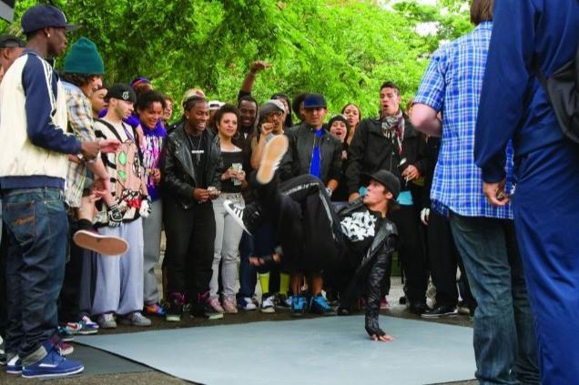 Un momento coreografico del film Step Up 3-D