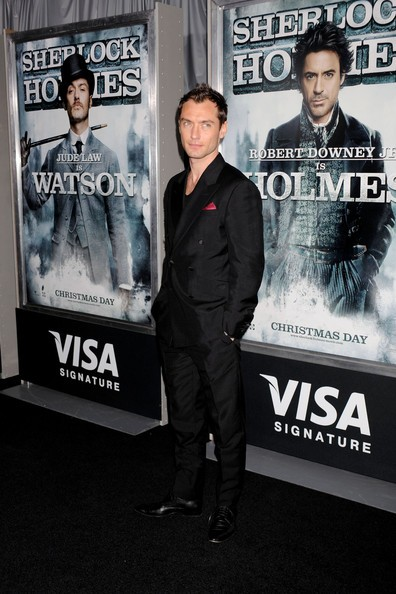 Jude Law alla premiere newyorkese di Sherlock Holmes