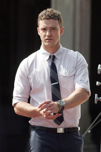 Justin Timberlake durante le riprese di Friends with Benefits