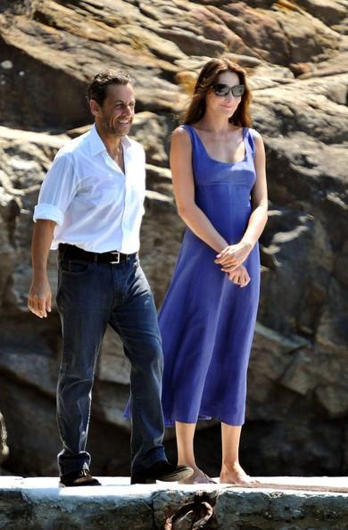 Carla Bruni e Nicolas Sarkozy nel sud della Francia