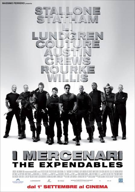 Locandina Italiana del film I mercenari - The Expendables