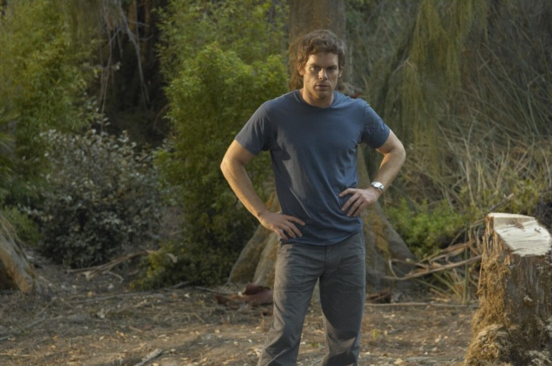 Dexter (Michael C. Hall) in un momento dell'episodio Calma piatta di Dexter