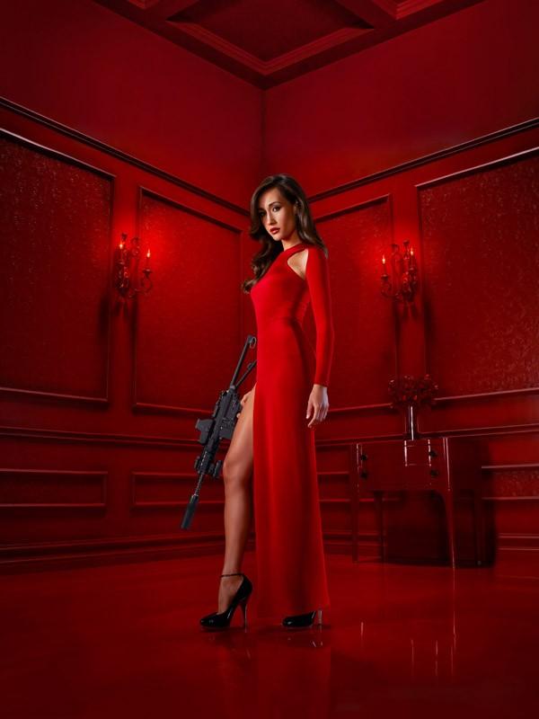 Un'immagine promo di Maggie Q utilizzata per il poster della prima stagione di Nikita