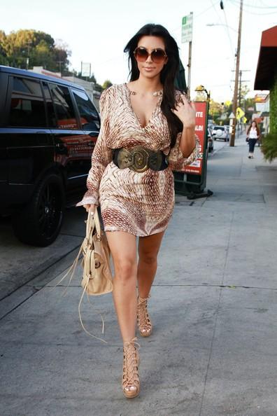 Kim Kardashian all'ucita del Ristorante Giorgio Baldi