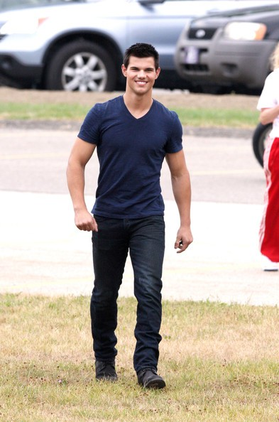 Taylor Lautner sul set di Abduction
