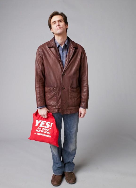 Jim Carrey in una immagine promozionale per il film Yes Man