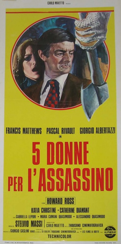 La locandina originale di 5 donne per l'assassino