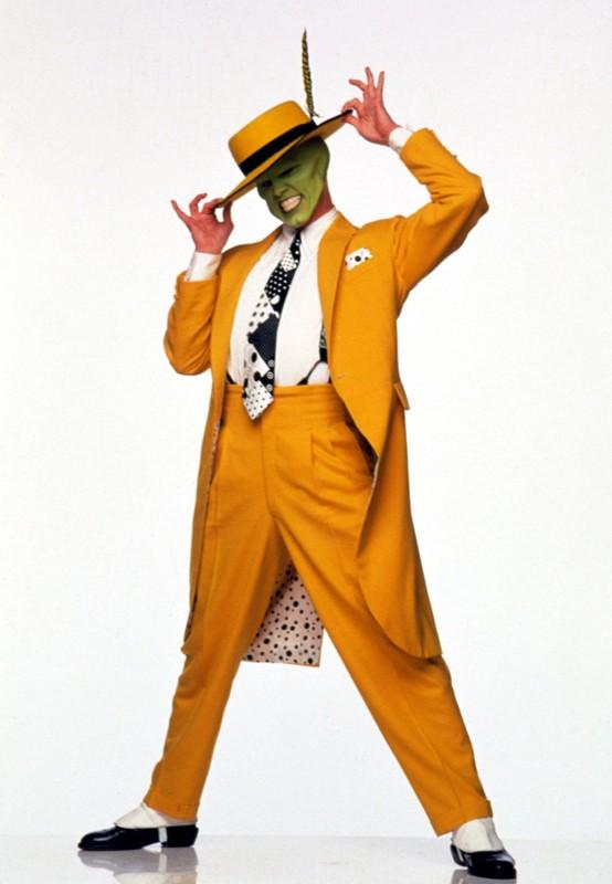 The Mask (Jim Carrey) in una foto promo del film The Mask - da zero a mito
