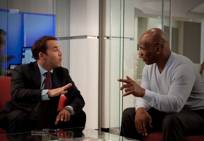 Jeremy Piven e Mike Tyson nell'episodio Bottoms Up di Entourage