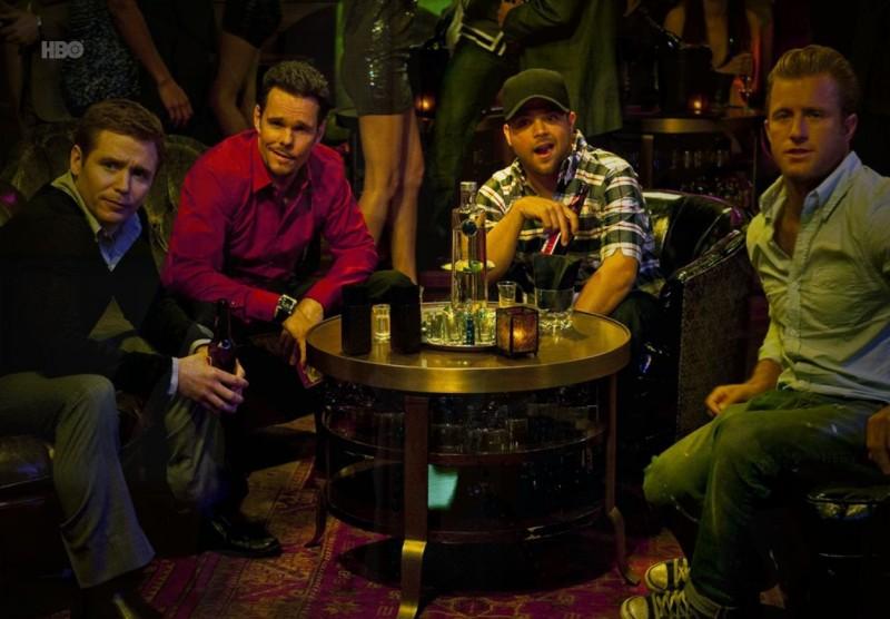 Kevin Connolly, Kevin Dillon, Jerry Ferrara e Scott Caan nell'episodio Bottoms Up di Entourage