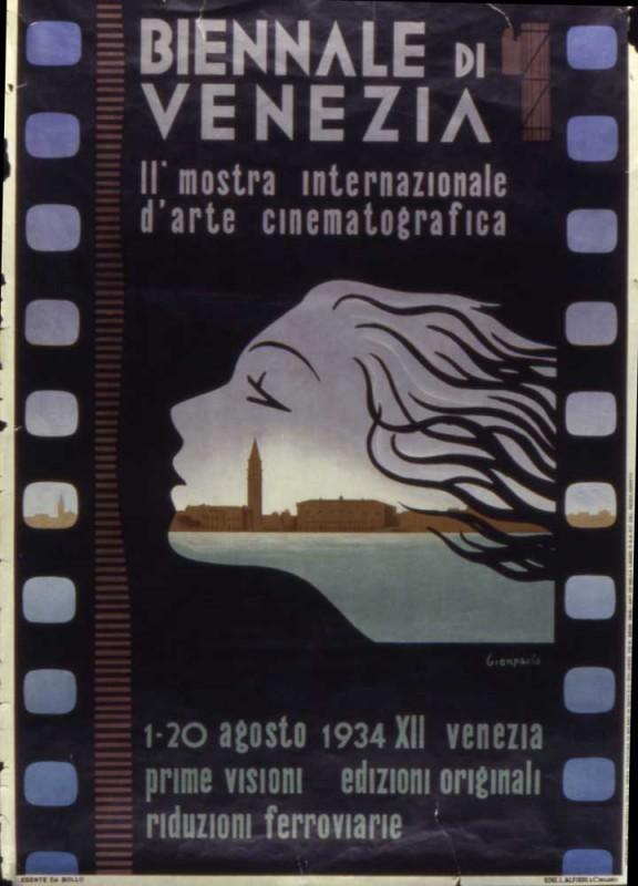 Il manifesto della Mostra del Cinema di Venezia 1934