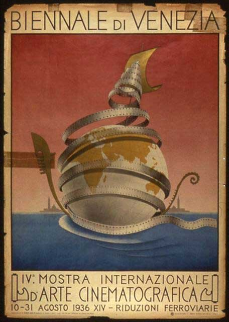 Il manifesto della Mostra del Cinema di Venezia 1936