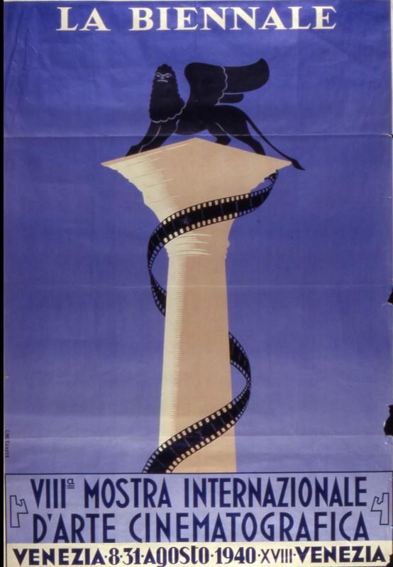 Il manifesto della Mostra del Cinema di Venezia 1940