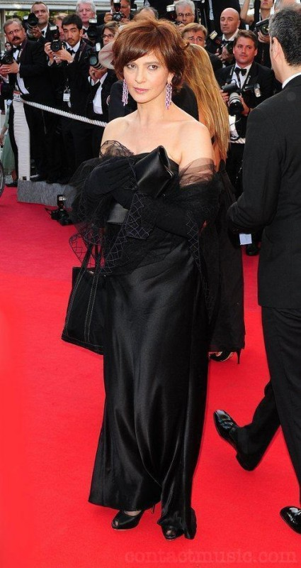 Laura Morante in nero a Cannes 2009
