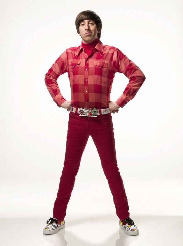 Simon Helberg in una immagine promozionale della stagione 4 di The Big Bang Theory