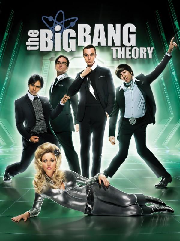 Un poster della stagione 4 della sit-com The Big Bang Theory