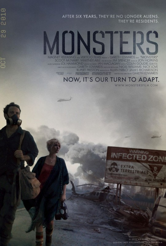 La locandina del film Monsters
