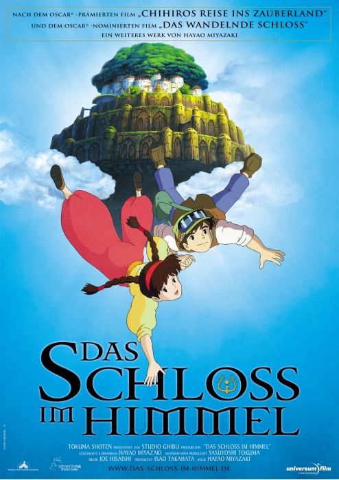 Locandina tedesca del film d\'animazione Laputa: Castle in the Sky