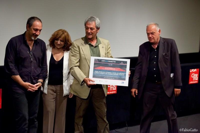 Premiazione Casa del Cinema - Enzo De Camillis, Laura Delli Colli, Roberto Girometti