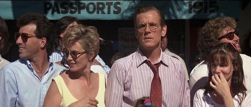 Nick Nolte con Jessica Lange e Juliette Lewis in una scena di Cape Fear - Il promontorio della paura