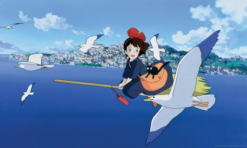 Kiki in una bella scena del film d\'animazione Kiki consegne a domicilio