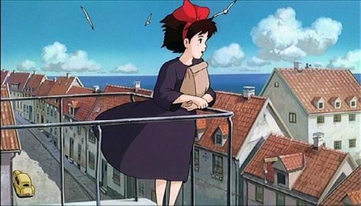 Kiki in una sequenza del film d\'animazione Kiki consegne a domicilio