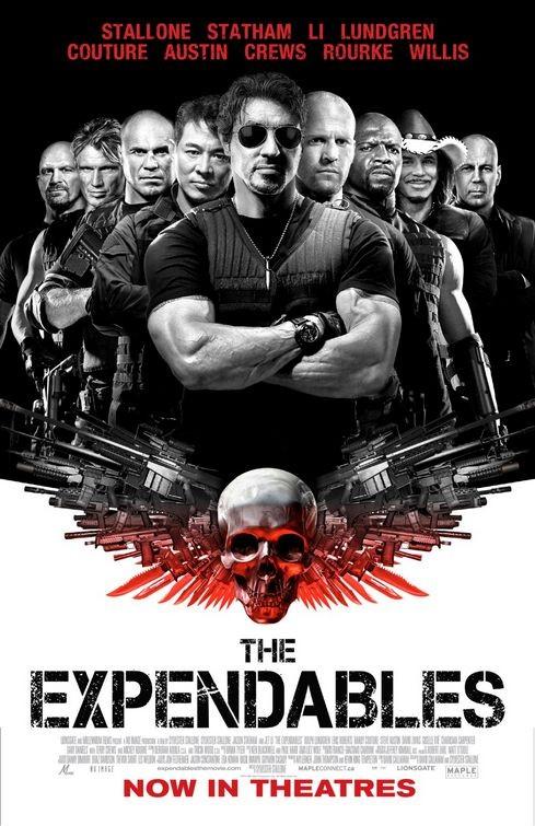 Poster canadese per The Expendables (I mercenari)