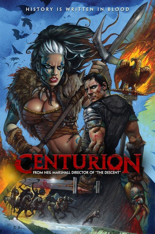 Un poster in stile fumetto per Centurion