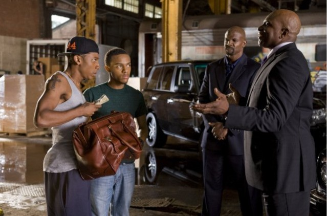Terry Crews, Keith David, Bow Wow e Brandon T. Jackson nel film Lottery Ticket (2010)