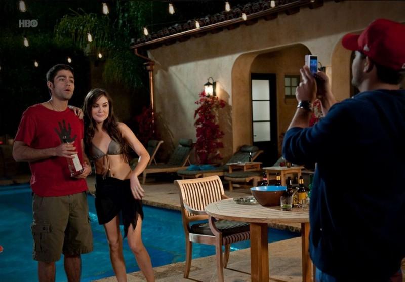 Adrian Grenier, Sasha Grey e Jerry Ferrara nell'episodio Hair di Entourage