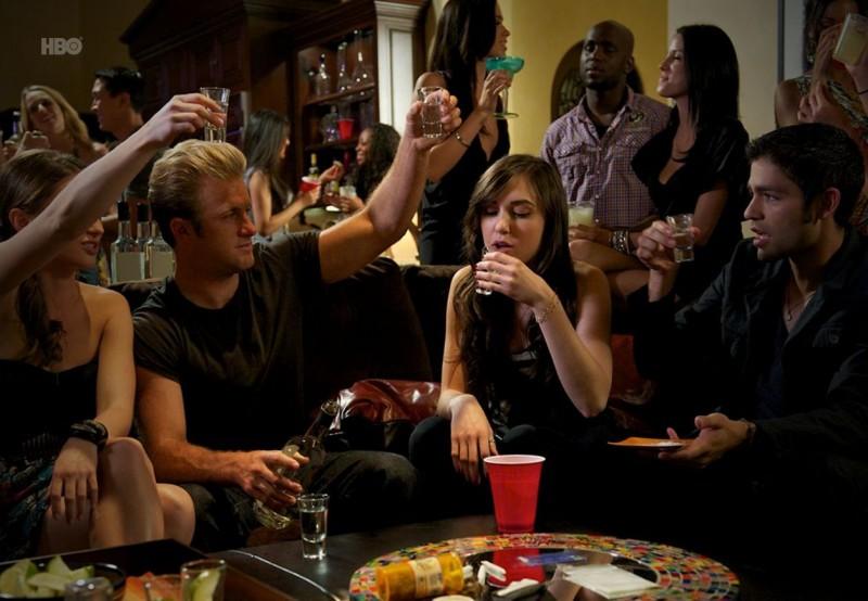 Adrian Grenier, Scott Caan e Sasha Grey nell'episodio Tequila and Coke di Entourage