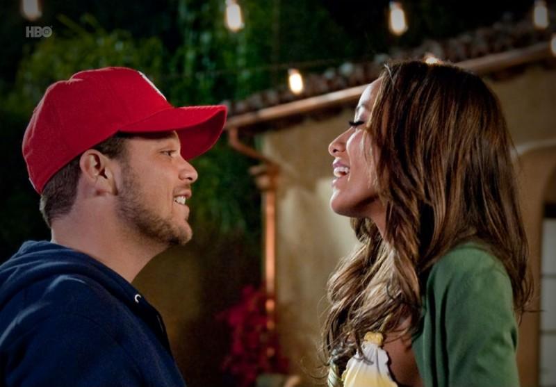 Dania Ramirez e Jerry Ferrara nell'episodio Hair di Entourage