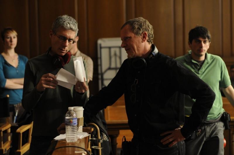 I registi Rob Epstein e Jeffrey Friedman sul set del film Howl