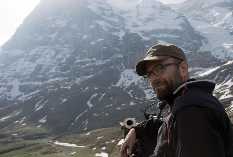 Il regista Philipp Stölzl sul set innevato del film North Face - Una storia vera