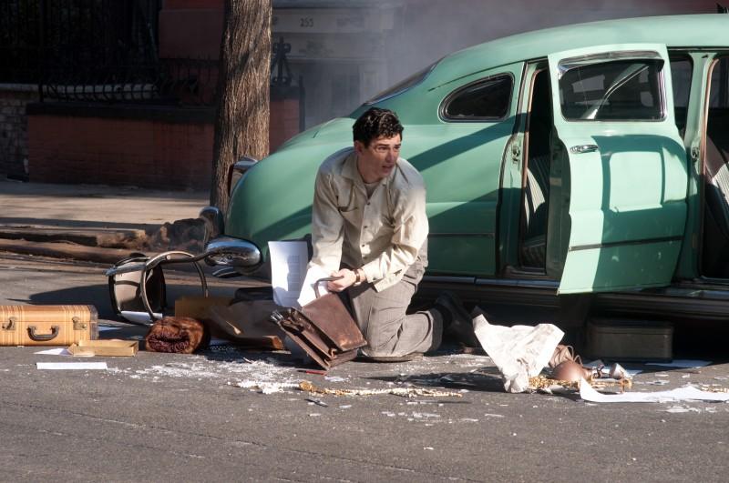 James Franco in un momento drammatico del film Howl
