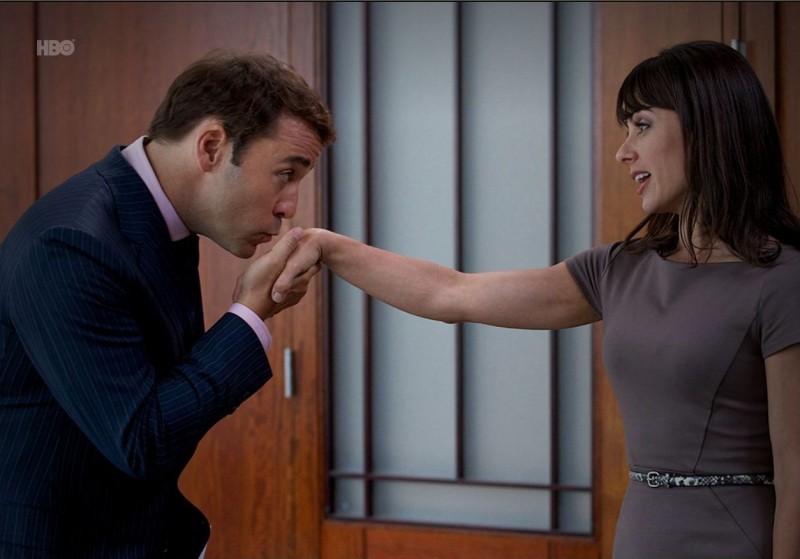 Jeremy Piven e Constance Zimmer nell'episodio Tequila and Coke di Entourage