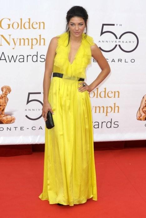 Jessica Szohr di Gossip Girl all'edizione 2010 del Television Festival di Montecarlo