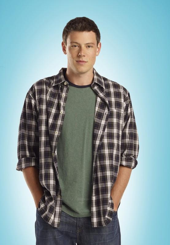 Cory Monteith in una foto promo per la 2 stagione di Glee
