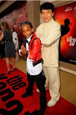 Jaden Smith e Jackie Chan alla premiere di Karate Kid a Los Angeles