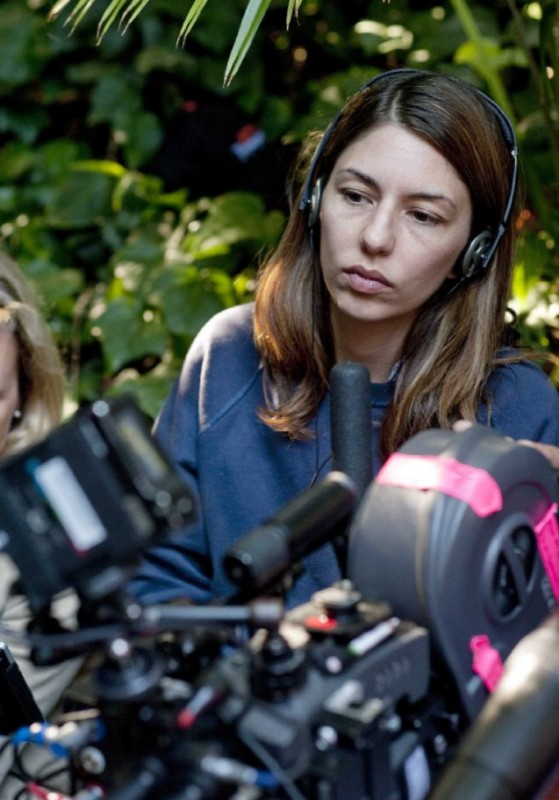 La regista Sofia Coppola dirige il film Somewhere