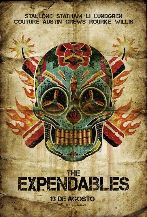 Poster messicano per The Expendables (I mercenari)