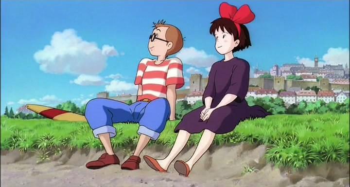 Una scena del film d'animazione Kiki consegne a domicilio del 1989