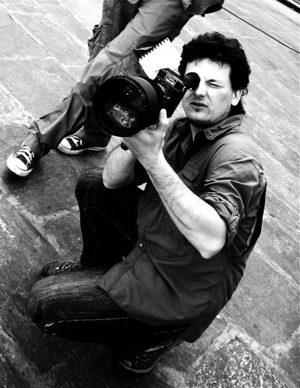 Marco Sgorbati sul set.