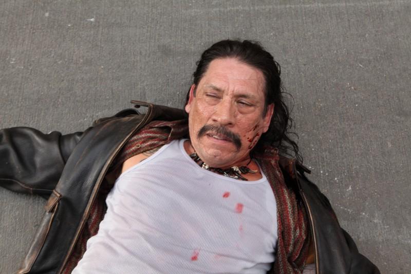 Un'immagine di Danny Trejo dal film Machete