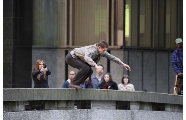 Un momento delle riprese della stagione 3 di Fringe
