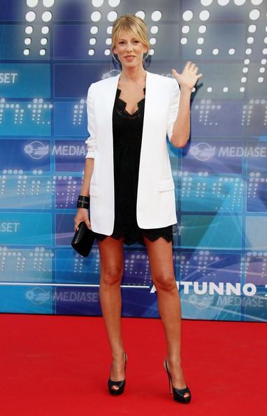 Alessia Marcuzzi ad un evento Mediaset, nel 2010