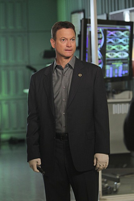 Gary Sinise in una scena dell'episodio The 34th Floor di CSI: New York