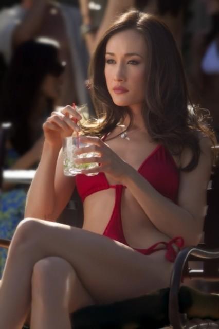 Maggie Q in un'immagine del pilot della serie Nikita della CW
